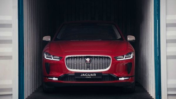 Jaguar I-PACE at a Mumbai port. The EV hitting Indian shores is likely to rev up excitement in the luxury EV space.