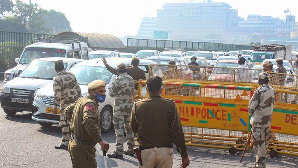 Representational image of traffic jam at Gurugram-Delhi border. (PTI)