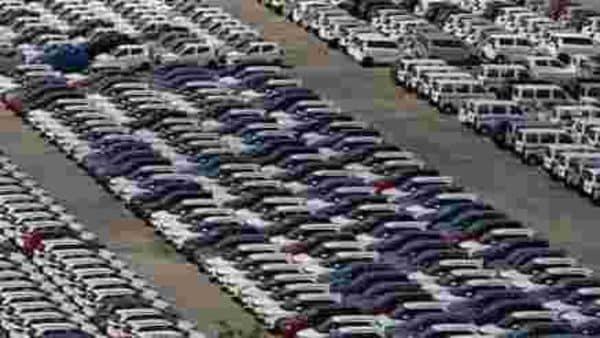 File photo of Maruti Suzuki cars parked at its Manesar plant near Gurugram. (Photo used for representational purpose) (REUTERS)