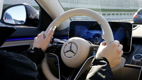 File photo of a Mercedes steering wheel used for representational purpose only (REUTERS)
