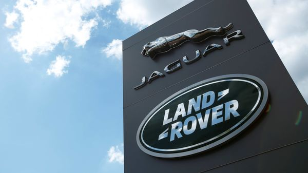 Jaguar Land Rover logo is seen at a dealership in Britain. (File Photo) (REUTERS)