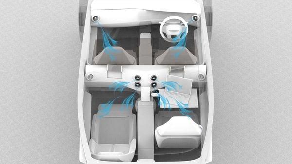 The interior sketch of the Extinction MK1 electric luxury sedan. (Photo courtesy: Twitter/@pravaigdynamics)