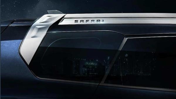 Tata Motors teased the rear quarter window of the upcoming 2021 Safari SUV. (Photo courtesy: Twitter/@TataMotors_Cars)