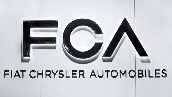File photo of Fiat Chrysler Automobiles FCA logo displayed at the North American International Auto Show in Detroit. (AP)
