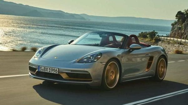 Porsche has introduced the Boxster 25 Years, an anniversary edition marking 25 years of the roadster family. The car is based on the 718 Boxster GTS 4.0 and takes styling cues from the original Boxster concept.