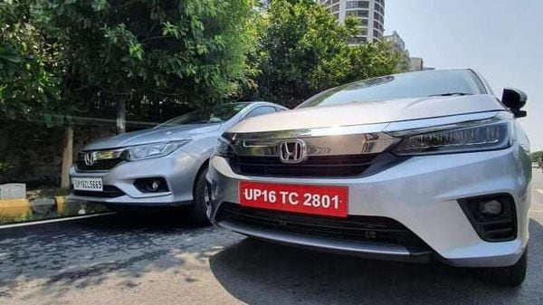 Honda is selling the fourth-generation (left) and the new fifth-generation City simultaneously.