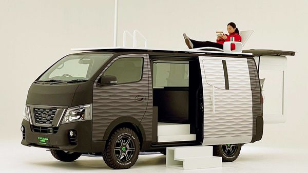 Nissan has unveiled this concept caravan NV350 Office Pod Concept recently.