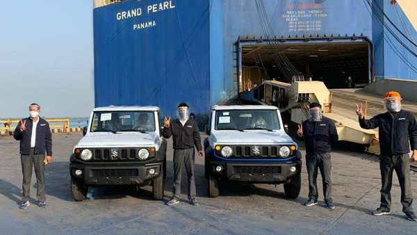 First batch of Maruti Suzuki Jimny SUV being exported from Mundra port.
