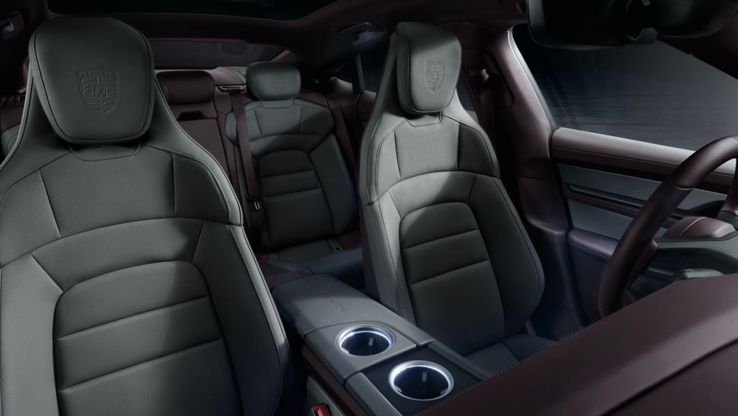 As standard, the Taycan comes with a partial leather interior as well as front comfort seats with eight-way electrical adjustment.