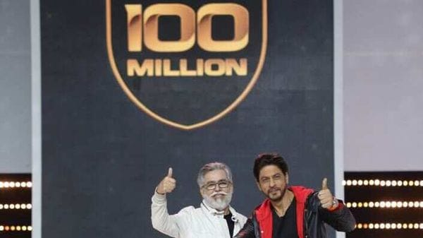 Pawan Munjal, Chairman and CEO at Hero MotoCorp, with Bollywood actor Shah Rukh Khan.