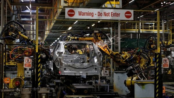 A car is seen on the production line at Nissan's car plant in Sunderland Britain. (File Photo) (REUTERS)