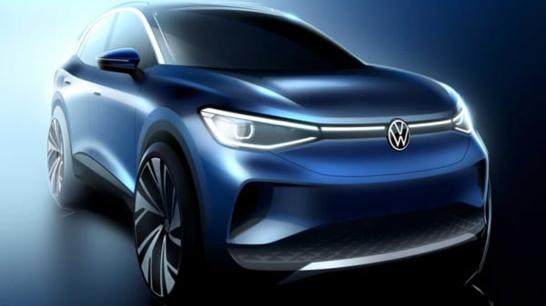 Representational image of VW ID.4 electric crossover concept teaser