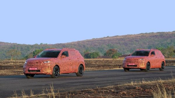 Skoda has released more images of a camouflaged Kushaq SUV on trial runs in different parts of the country. The SUV will be made in India but made for the world,