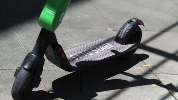 File photo of a Lime shared electric scooter used for representational purpose (AFP)
