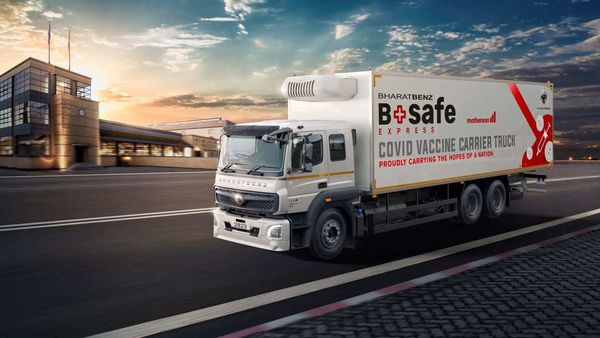 BSafe Express under the BharatBenz brand promises to offer safe and secure transportation of essential vaccines.