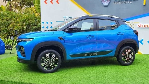 Renault Kiger SUV roll on 16-inch wheels shod with CEAT SecuraDrive range of tyres. (Image: HT Auto/Sabysachi Dasgupta)