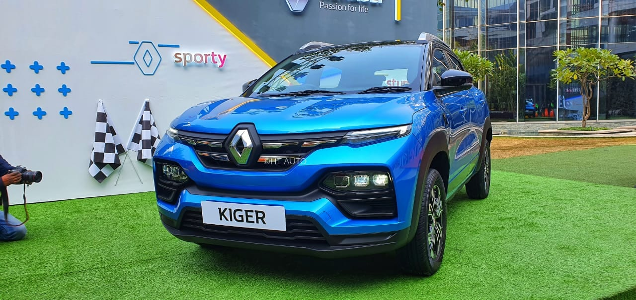 Kiger will be a global product manufactured in India and Renault is promising a whole list of feature highlights that could make it a compelling option. The SUV will also come with a first in segment PM2.5 Clean Air Filter. (Image: HT Auto/Sabysachi Dasgupta)