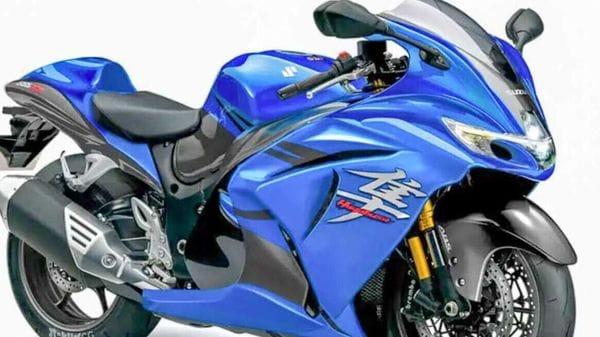 Representational render image of 2021 Suzuki Hayabusa.