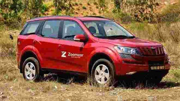 A Mahindra XUV500 branded as Zoomcar. (Photo courtesy: Zoomcar)