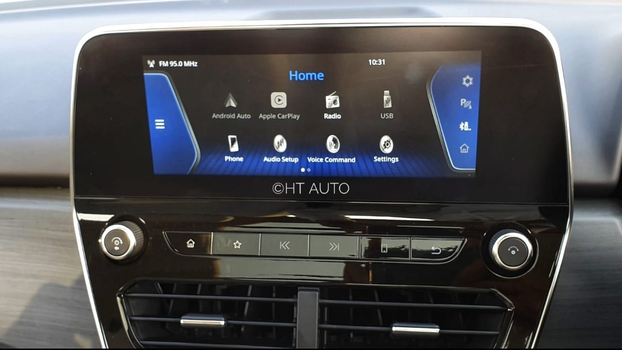 "The floating type 8.8"" touch screen infotainment system sits in the middle on the dash and is easy to operate. (Image: Sabyasachi Dasgupta/ HT Auto)"