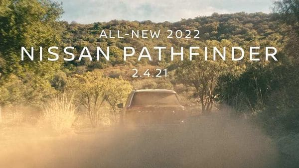 Nissan teases 2022 Pathfinder SUV ahead of global debut on February 4.