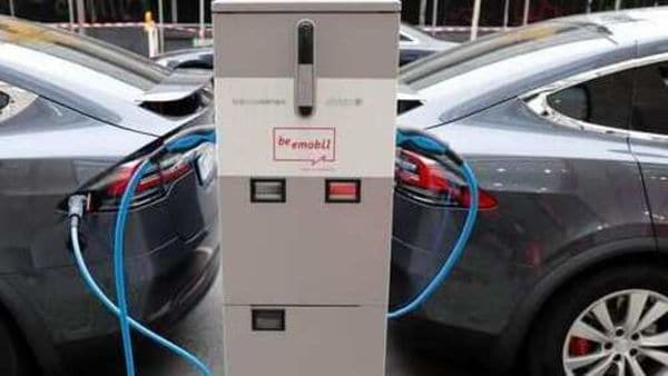 File photo of Tesla Model X cars getting charged used for representational purpose only (REUTERS)