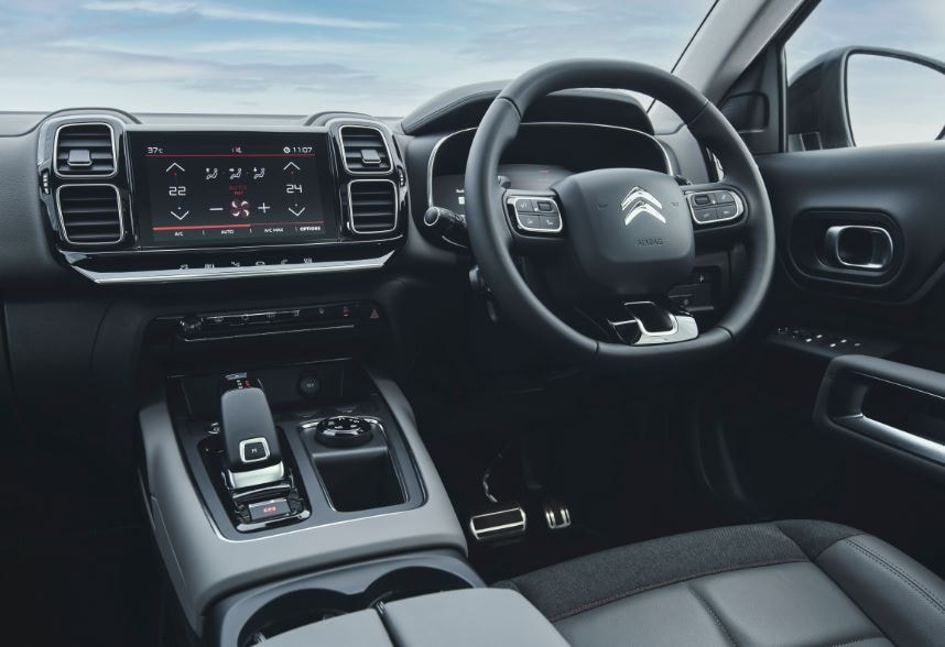The Citroen C5 Aircross features an eight-inch central infotainment screen and a larger 12.3-inch driver display. which can be customized.