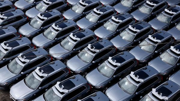 File photo of Volvo cars parked in a space in Detroit, US. (AP)