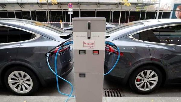 File photo of electric vehicles charging (REUTERS)