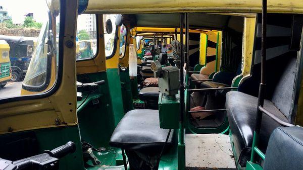 File photo: Auto Rickshaws are seen parked