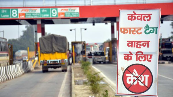 Digital toll payment through FASTag ensures swift movement of vehicles. (HT_PRINT)