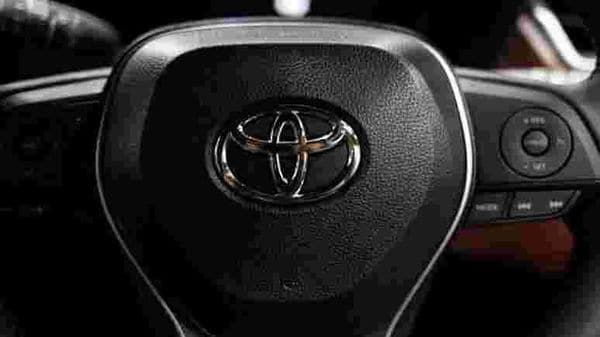 The Toyota emblem is seen on the steering of a vehicle. (Representational file photo) (REUTERS)