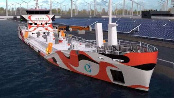 Electric oil tanker. (Image: e5 Project on YouTube)