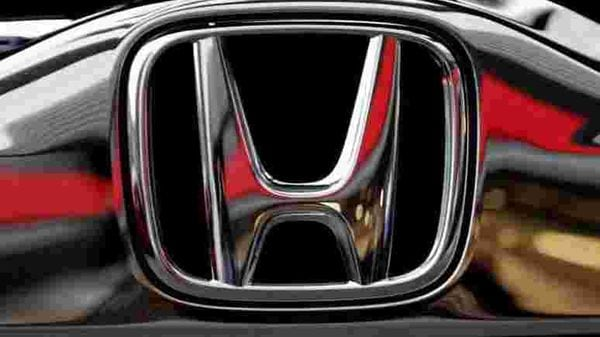 Honda's logo on its Modulo model is pictured at its showroom at its headquarters in Tokyo, Japan. (REUTERS)