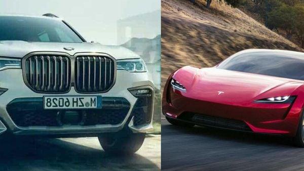 File photo: BMW (L) and Tesla (R)
