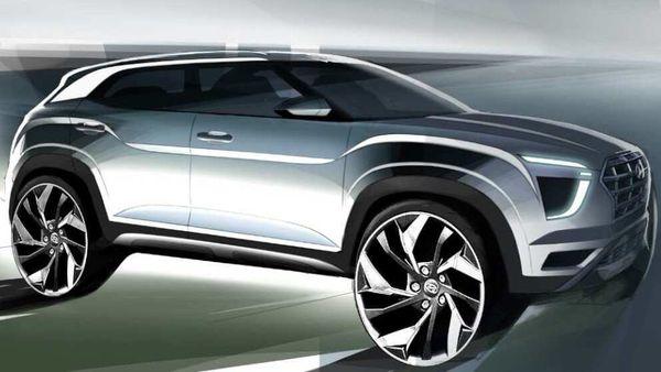 Representational image of 2020 Hyundai Creta design sketch. Image Credits: Hyundai Motor India