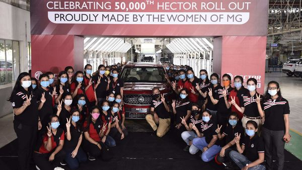 MG Motor India has reached a production milestone of 50,000 units.