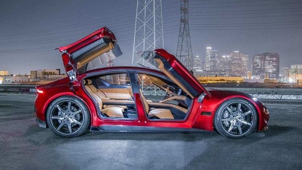 The car under the Fisker-Foxconn deal is going to come out in the fourth quarter of 2023 and will be a part of the four-model lineup announced by the company. (Fisker e-motion electric car).