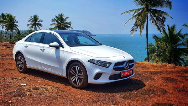 Mercedes A-Class Limousine has been officially launched in India at a starting price tag of <span class='webrupee'>₹</span>30.90 lakh. The diesel A-Class has been priced at <span class='webrupee'>₹</span>40.90 lakh while the AMG is priced at <span class='webrupee'>₹</span>56.24 lakh (all ex-showroom prices). (Image: HT Auto/Sabyasachi Dasgupta)