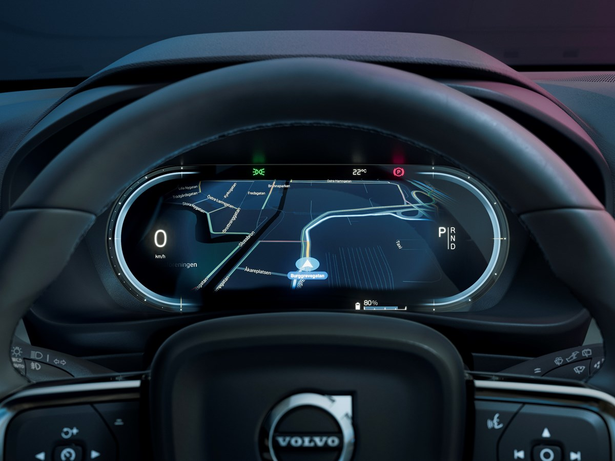 Being permanently connected to the network will allow the Volvo C40 Recharge operating system to be updated remotely and incorporate more features.
