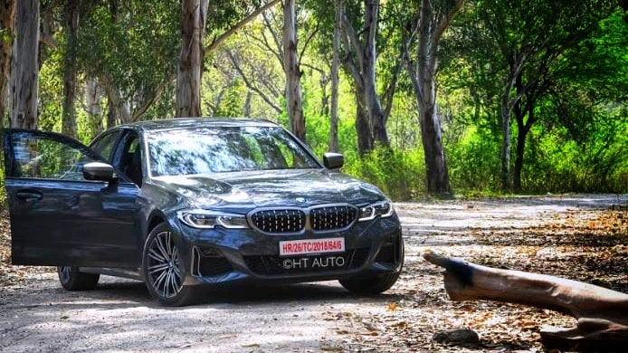 The BMW M340i xDrive has a strong visual presence, especially from the front. (HT Auto/Sanjay Rohilla)