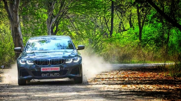 While the Eco Pro and Comfort modes are well-tuned to provide a steady drive experience, it is in Sport mode that the BMW M340i truly displays all its glory. (HT Auto/Sanjay Rohilla)