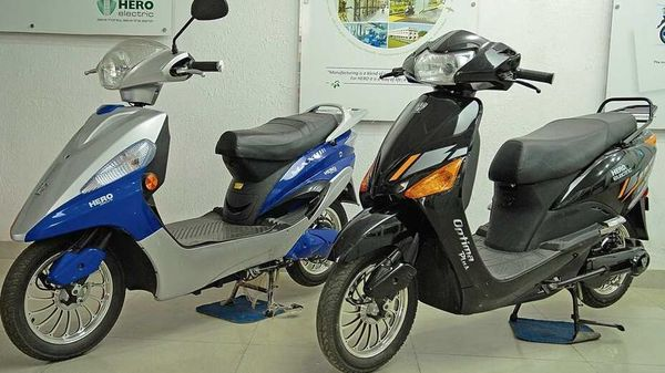 Representational image of Hero Electric scooters.