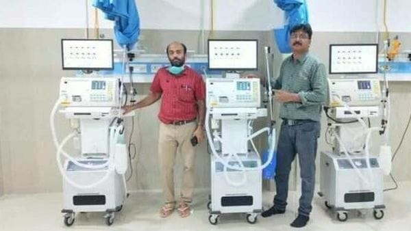 Max Ventilator recently installed these devices at Ernakulam General Hospital. (Photo: Twitter/@maxventilator)