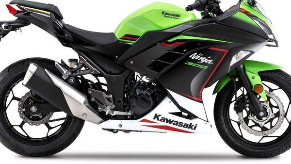 2021 Kawasaki Ninja 300 gets a new paint scheme.