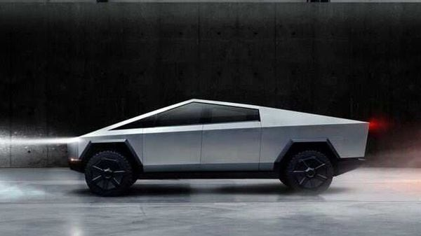 The Cybertruck, Tesla's first electric pickup truck, is seen in this undated handout picture. (via REUTERS)