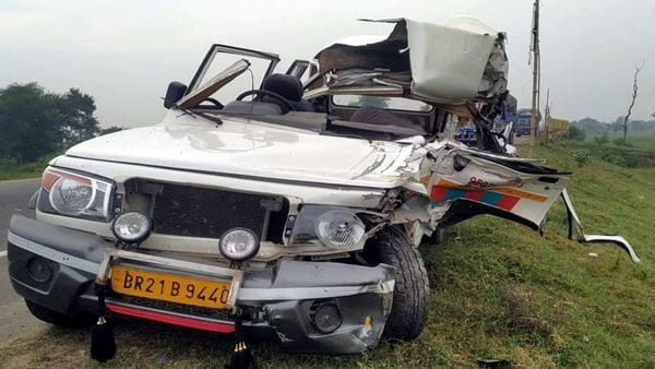 An ambulance after a road accident in Bihar. (File photo)