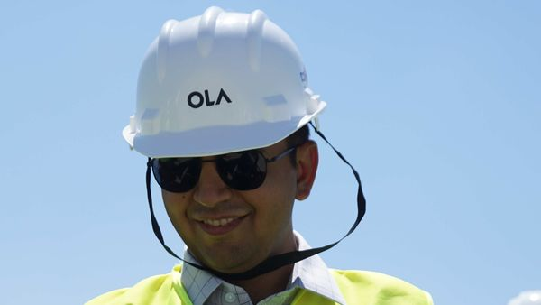 Ola's founder Bhavish Aggarwal surveys the empty 500-acre expanse that will become the world's largest electric scooter plant. With this, he aims to crank out about 2 million a year.