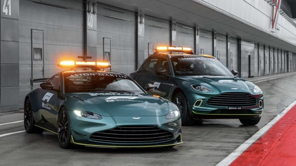 Aston Martin Vantage, DBX will be new safety and medical cars for Formula 1 in 2021.