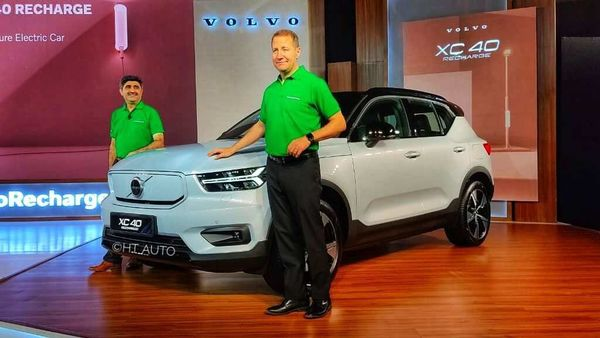 Volvo has officially showcased XC40 Recharge EV in India. (HT Auto photo)